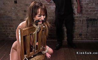 Bound slave fucked and made squirt