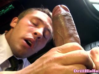 Muscular manager giving head