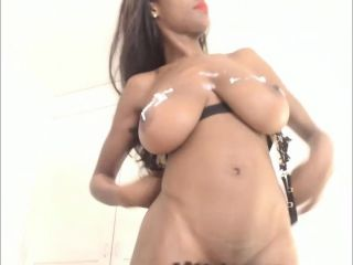Big Boobs Ebony Babe Dildoing