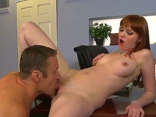 Jack Lawrence knows it for sure what will help him spice this boring day at the office up a bit. It is the taste of Marie McCrays pussy and the way it