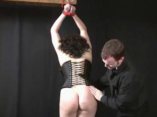 Uncomplaining honey with giant derriere caned